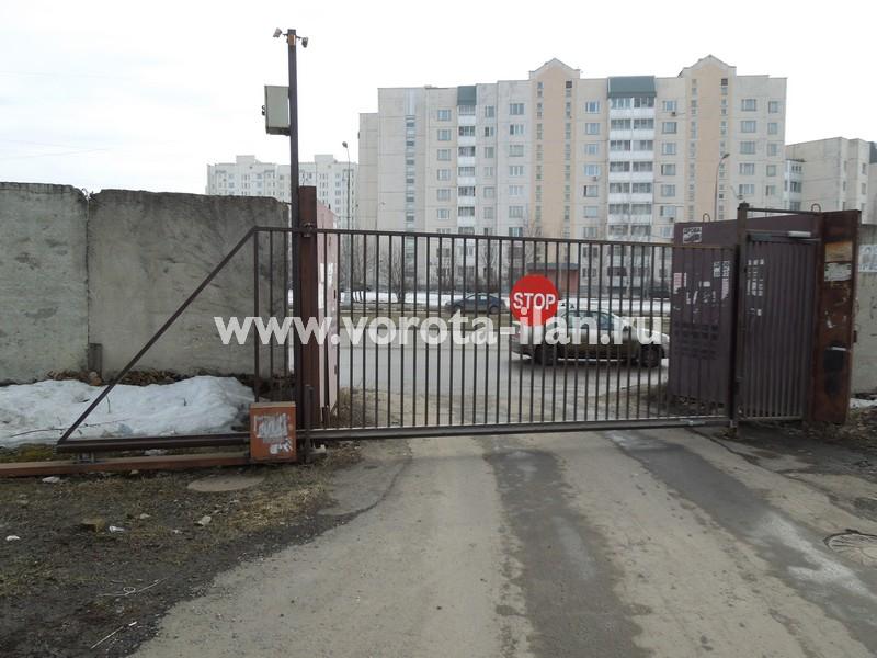 Ворота откатные_СНТ Гавриково 1_Седьмая улица_вид изнутри