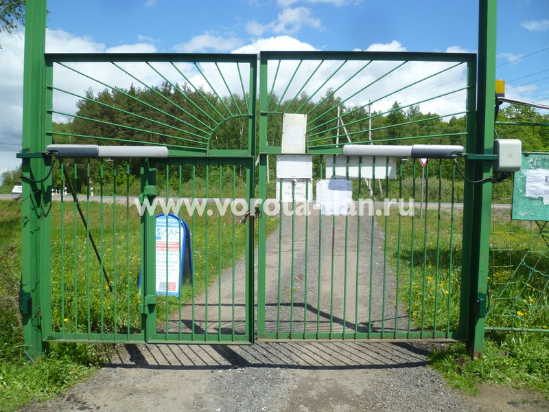 Автоматика на ворота в СНТ Солнышко (июнь 2017г.)