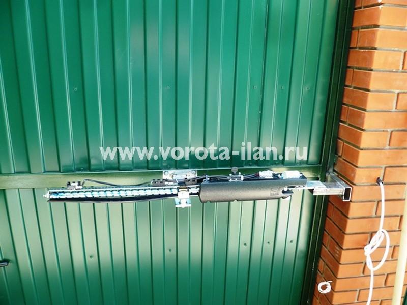 Чеховский район, частный дом, автоматизация распашных ворот заказчика (фото 1)
