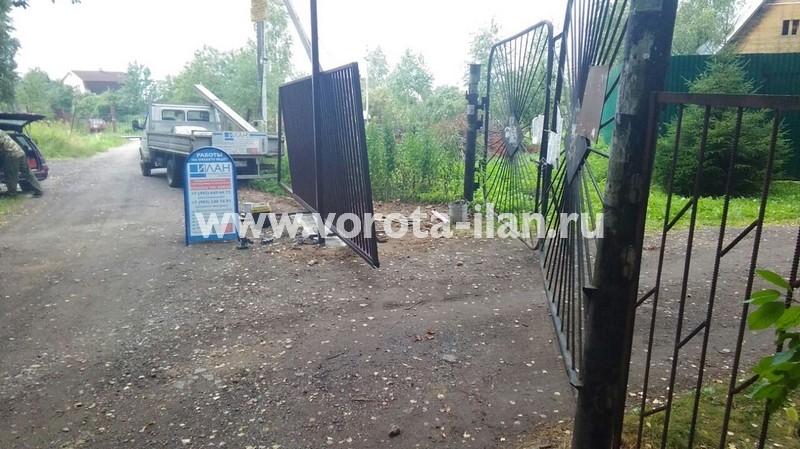 Чеховский район_СНТ Дружба_ откатные ворота на 2 въезда_фото 5