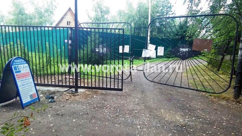 Чеховский район_СНТ Дружба_ откатные ворота на 2 въезда_фото 3