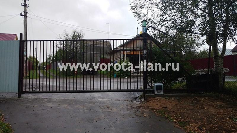 Ворота откатные №2_СНТ Дружба_Чеховский район МО_август 2017