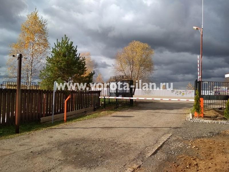 Калужская область_СНТ Истомино_шлагбаум подъёмный_октябрь2017_1