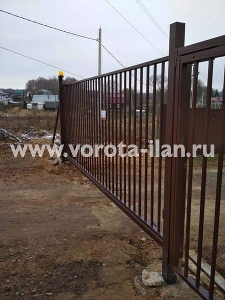 МО_Чеховский район_СНТ Металлист_ворота откатные и калитка