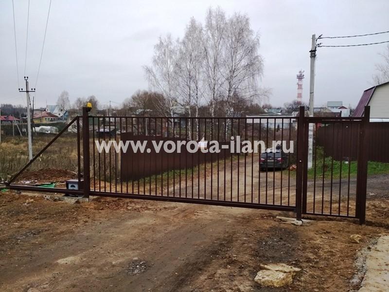 МО Чеховский район СНТ Металлист_ворота откатные, калитка и система контроля доступа