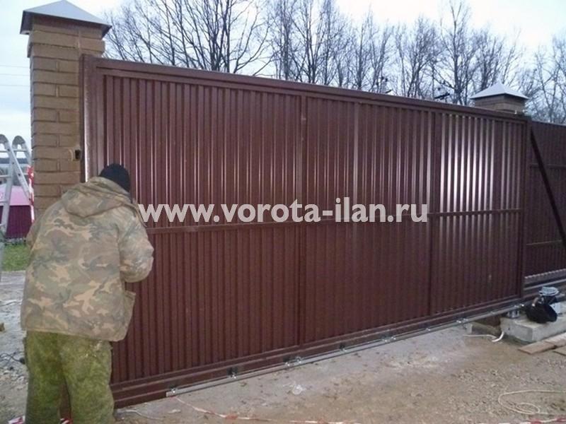 МО_Серпуховский район_деревня  Костино_откатные ворота автоматические_1