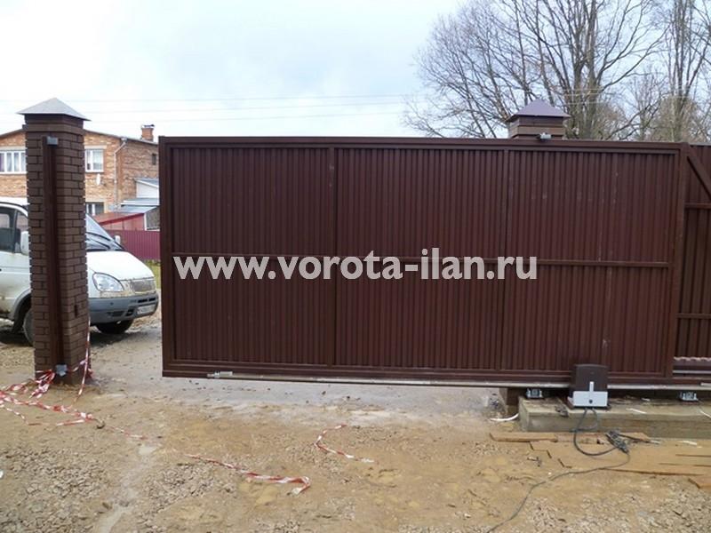 МО_Серпуховский район_деревня  Костино_откатные ворота автоматические_3
