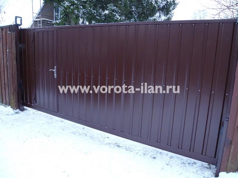 Южное Бутово_ СНТ Ленинское Знамя_ворота откатные с калиткой_готовые ворота