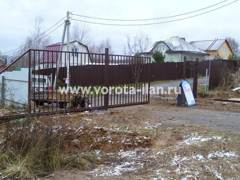 МО Чеховский район СНТ Металлист_монтаж ворот_2
