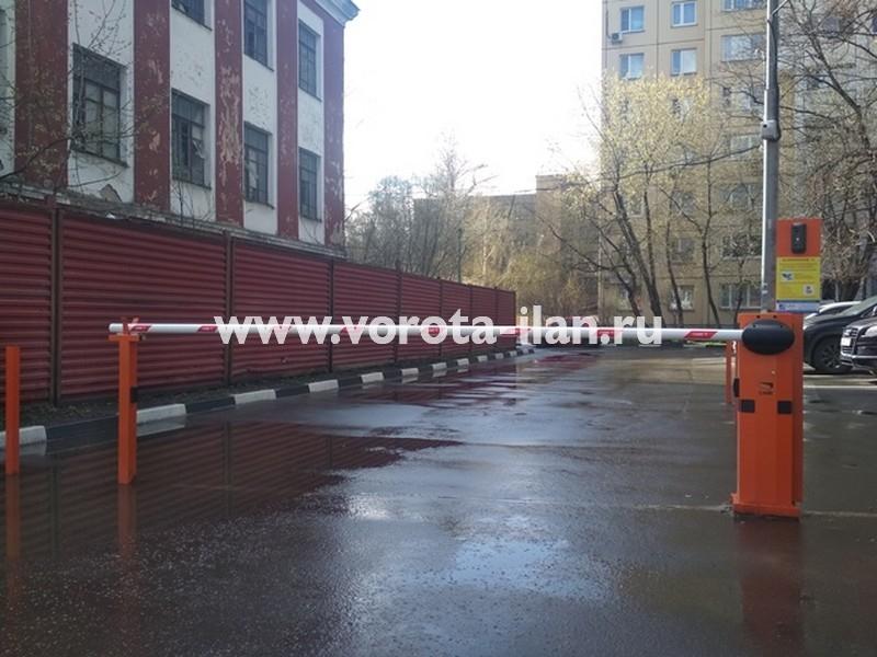Москва_ул Тайнинская д 7_шлагбаум подъёмный с антивандальным замком и УДП_фото 4