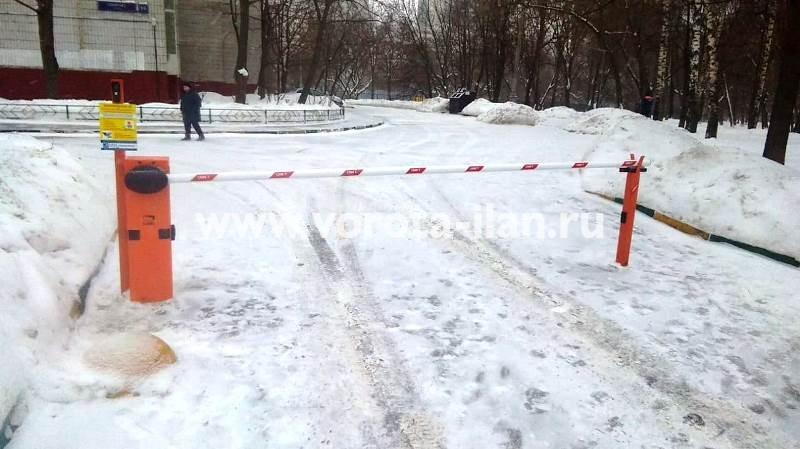 Москва_ул Говорова 13_шлабаум подъёмный CAME Gard3750_видеонаблюдение_1