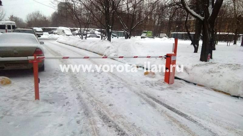 Москва_ул Говорова 13_шлабаум подъёмный CAME Gard3750_видеонаблюдение_2
