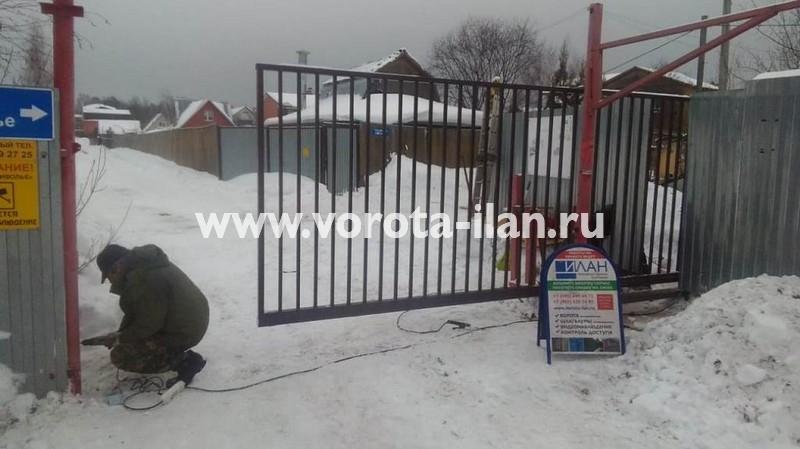 МО_Мытищинский район_СНТ Приволье_ворота откатные решетчатые прозрачные_1