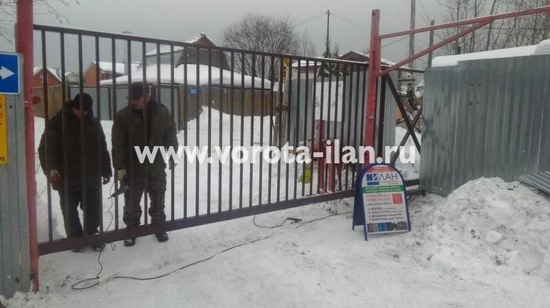 МО_Мытищинский район_СНТ Приволье_ворота откатные решетчатые прозрачные_2