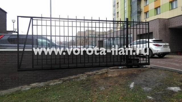 Москва_Большая Калитниковская 42а_ворота откатные с калиткой и забором_3