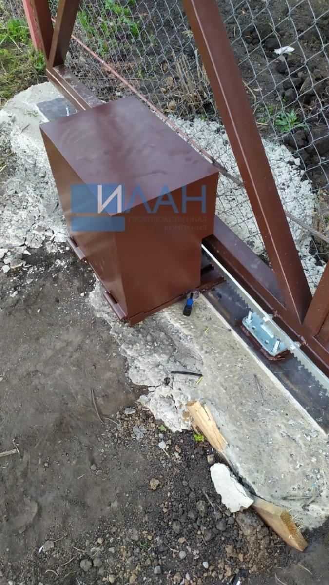 Ворота откатные, СНТ Родник 2011, Серебрянопрудский район_фото 1