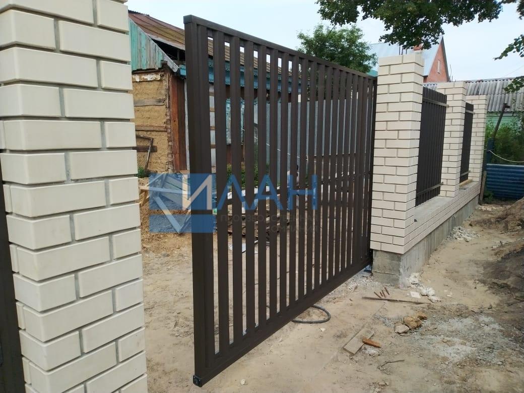 Ворота откатные (каркас) и каркас калитки с автоматикой Came BX608_деревня Никулино_фото 3