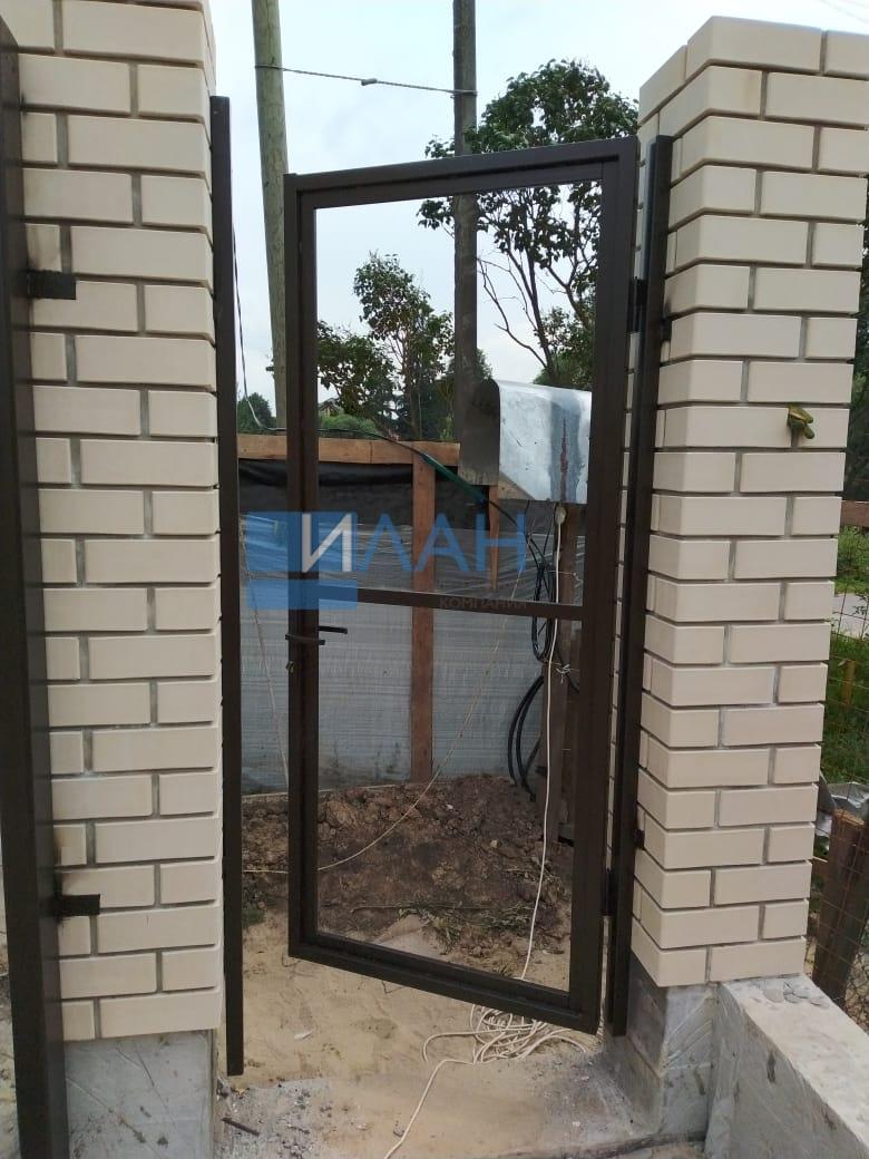 Ворота откатные (каркас) и каркас калитки с автоматикой Came BX608_деревня Никулино_фото 5