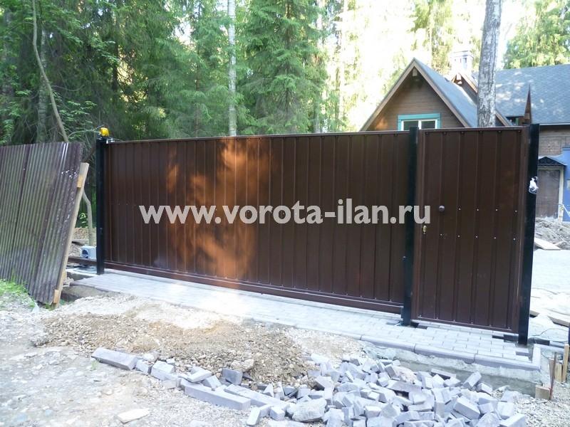 ворота откатные загородные_фото 2