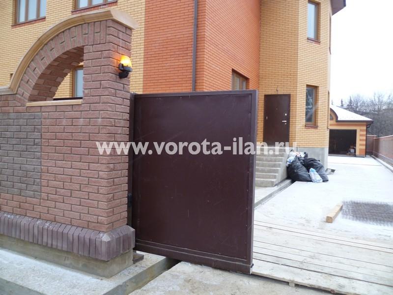 Ворота откатные_гладкий лист_фото 2