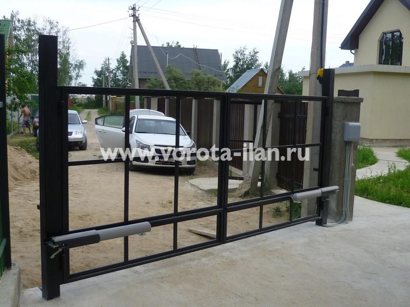 Ворота распашные_каркас ворот_фото 2