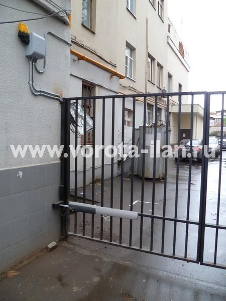 Ворота распашные с калиткой_Москва_фото 4