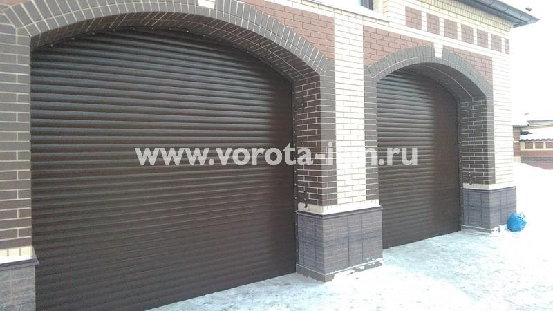 Рольворота гаражные коричневые_фото 2