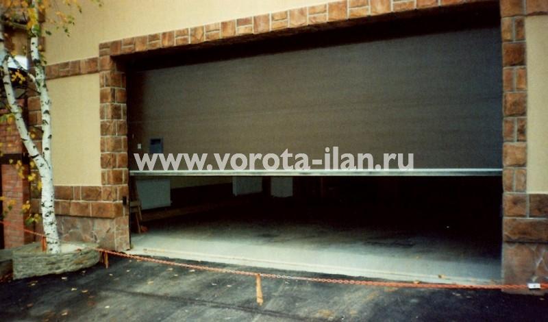 Ворота секционные гаражные_широкие_фото 1