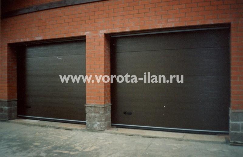 Ворота секционные гаражные_двойные_фото 3