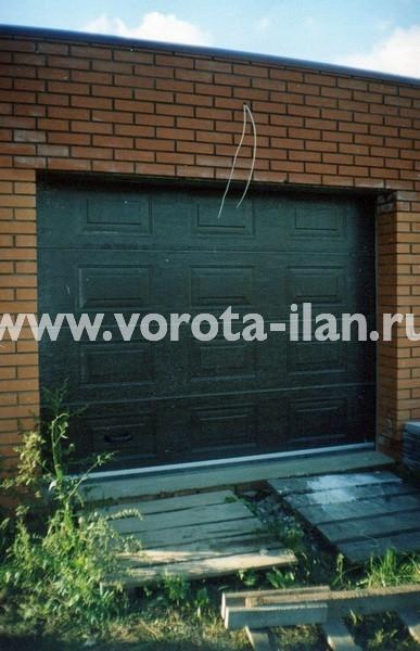 Ворота секционные гаражные_монтаж