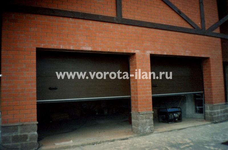 Ворота секционные гаражные_двойные_фото 1