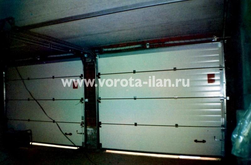 Ворота секционные гаражные_двойные_фото 2