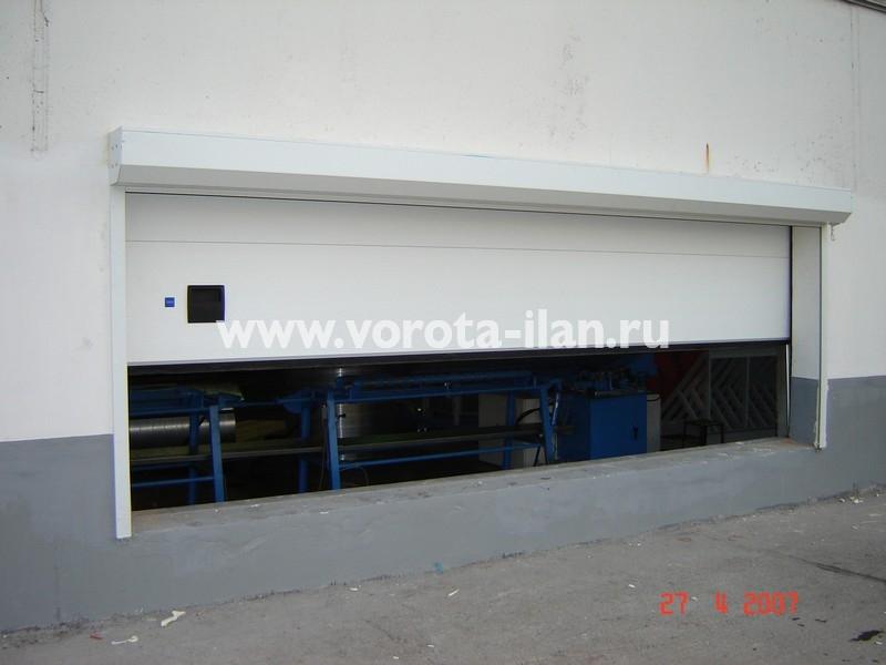 Ворота секционные промышленные белые_фото 5