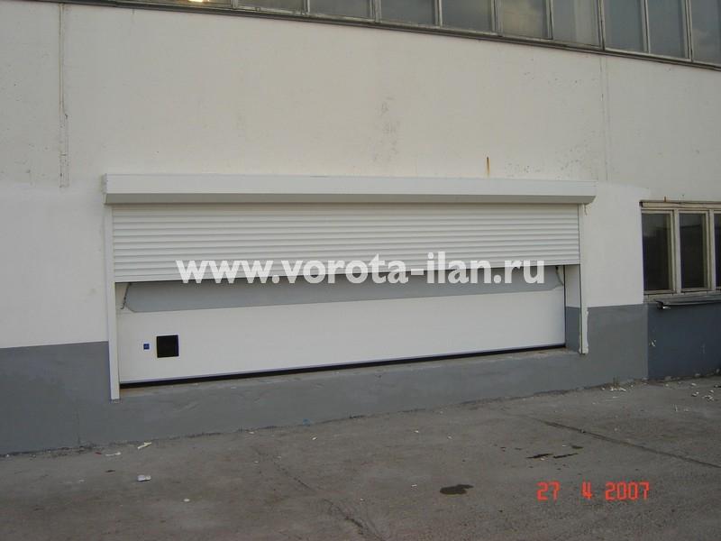 Ворота секционные промышленные белые_фото 3