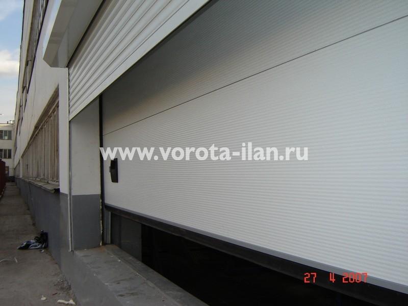 Ворота секционные промышленные белые_фото 2