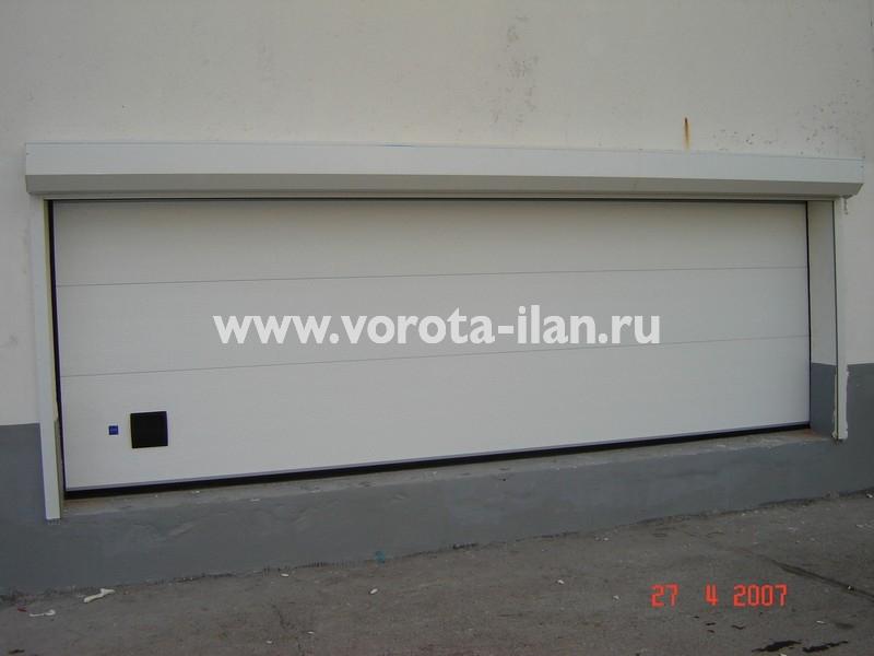 Ворота секционные промышленные белые_фото 1
