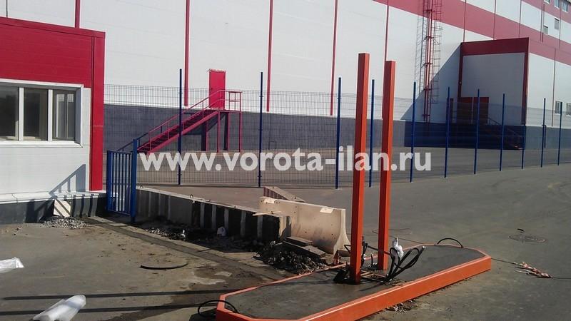 МО_складской терминал Михаиловская слобода_монтаж подъёмного шлагбаума_3