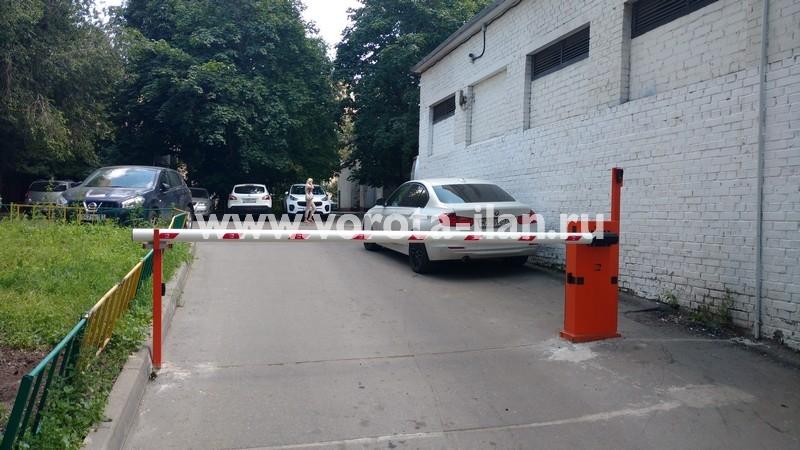 Москва_проспект Мира_шлагбаум подъёмный с защитой от вандализма_фото 2