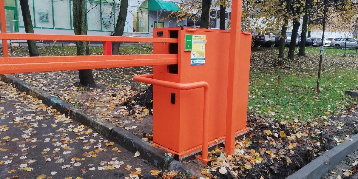 ШЛАГБАУМ АВТОМАТИЧЕСКИЙ ОТКАТНОЙ АНТИВАНДАЛЬНЫЙ АК5750А RAL2004 ярко-оранжевый